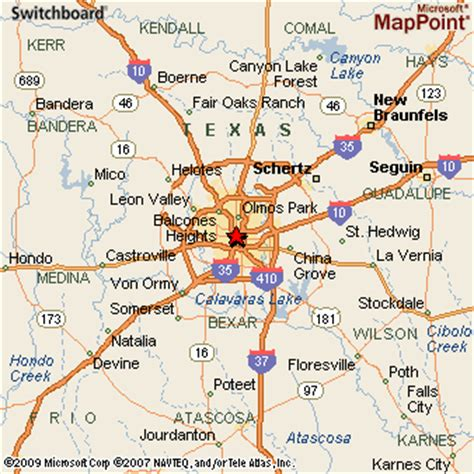 map of san antonio texas and surrounding area san antonio texas