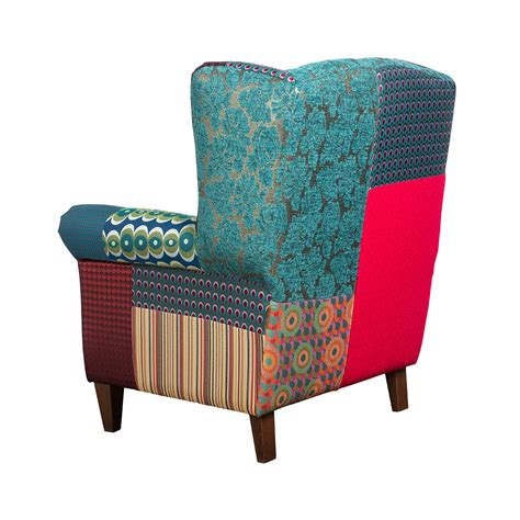 Patchwork Armchairs by Patchwork Jacquard Armchair Green 289793 Jpg