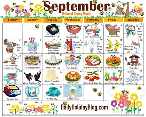 may daily holidays calendar daycare calendarholidays the new free september holiday calendar is available to