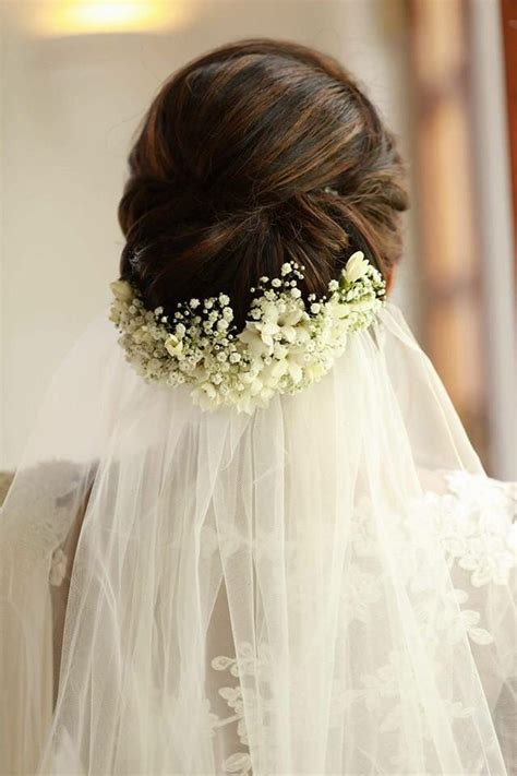 Wedding Hair And Veil Placement by The Veil And Flower Placement Of This Updo Wedding