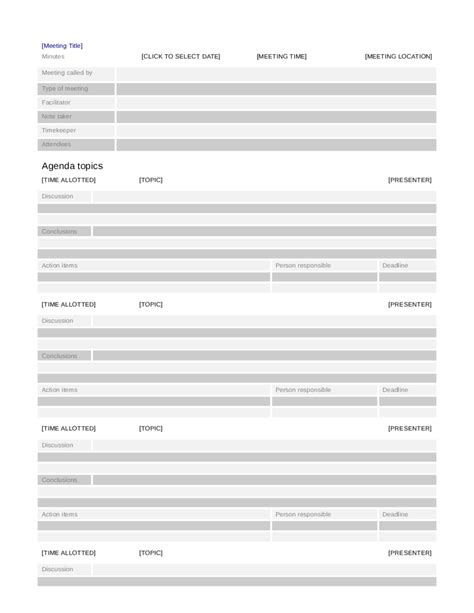 2018 Meeting Minutes Template Fillable Printable Pdf Forms Handypdf Minutes Template