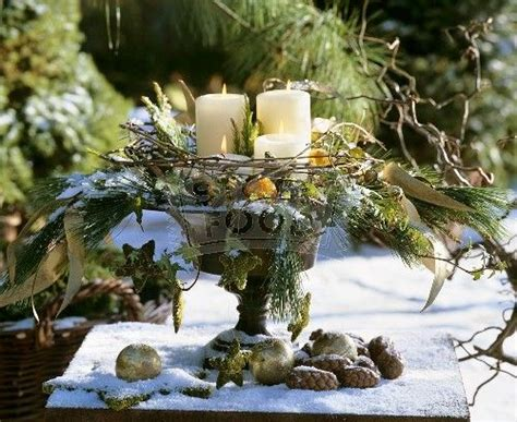 Awesome Dining Table Decorations For Christmas #6: 19d9799a9fc15bd33dfba72f65ebc326--winter-centerpieces-winter-decorations.jpg