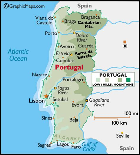 printable map portugal maps of portugal