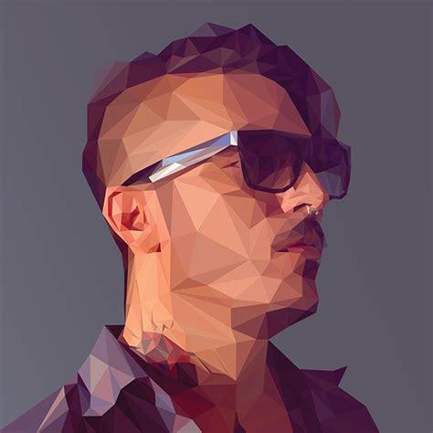 tutorial vector polygon low poly self portrait tutorial on behance