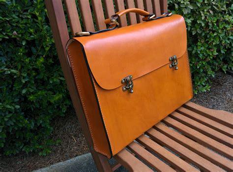 Handmade Leather Briefcase Usa - leather briefcase handmade in the usa large the