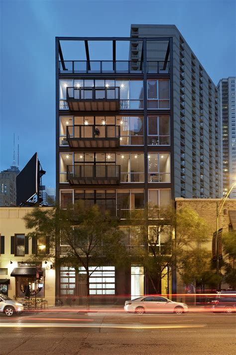 Renovated Loft With Industrial chicago buildings architecture illinois e architect