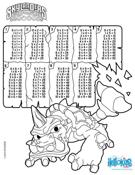 imagenes para colorear tablas de multiplicar dibujos para colorear utilizando las tablas de multiplicar