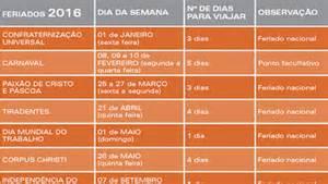 Calendario 2018 Belo Horizonte Calend 225 De Feriados De 2016 Vambora