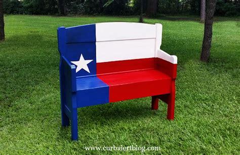 texas bench curb alert texas star headboard bench