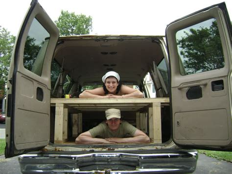 van with bed build a bed in the back of your van 4