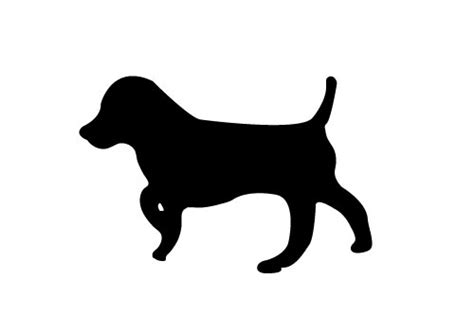 puppy silhouette pet vector silhouette archives sv stock