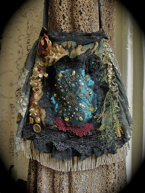 bohemian purse handbag handmade slouchy hobo fabric bag