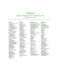 baby gift registry list 5 baby gift registry checklists free sle exle format free premium templates