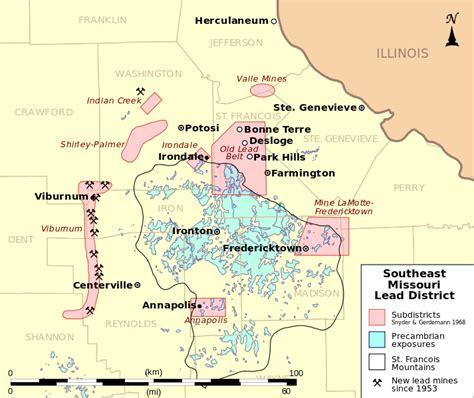 Search Semo File Southeast Missouri Lead District Subdistricts Map Svg