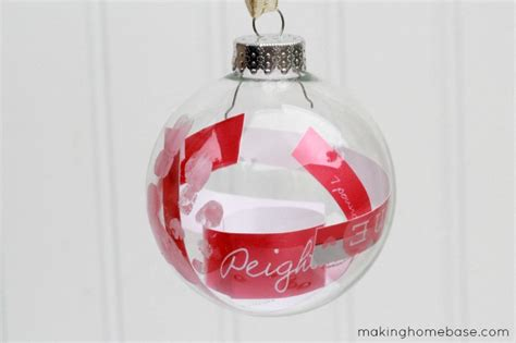 homemade personalized baby announcement ornament