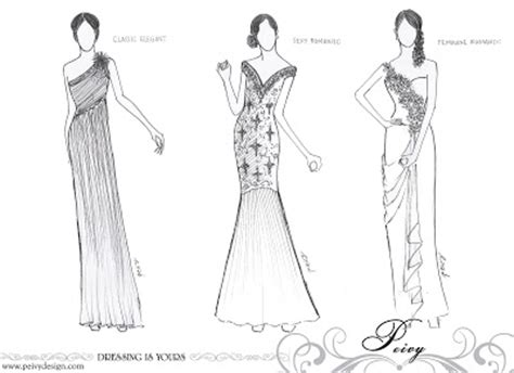 Promo Dress Designer Dgn Kalung Swarosky Gown Pesta 1234 Thn design sketch dress keluarga pengantin peivy design peivy design