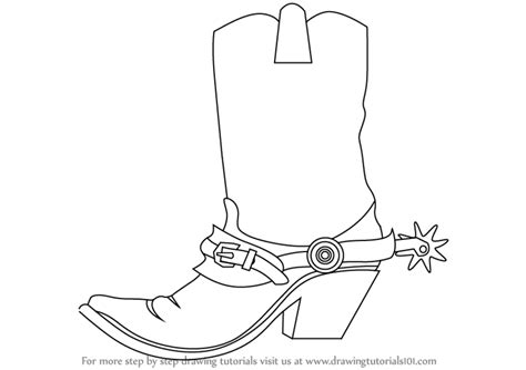 Learn How To Draw Cowboy Boots Cowboys Step By Step Drawing Of A Cowboy Boot Printable