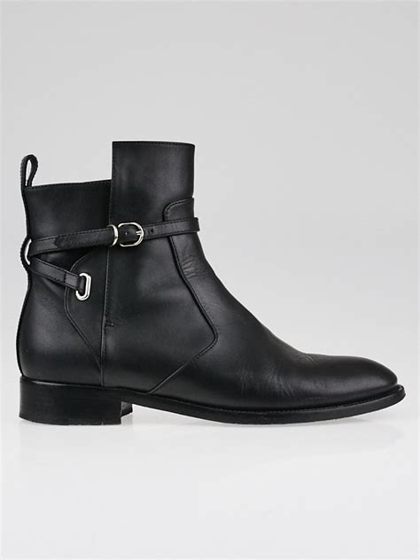 balenciaga black leather papier chelsea ankle boots size 6 5 37 yoogi s closet
