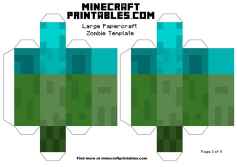 minecraft printable papercraft template large