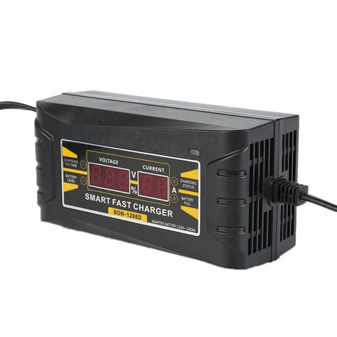Souer 12v 6a Portable Smart Fast Car Battery Charger Dc 1206w 12v 6a smart fast lead acid battery charger fit car motorcycle lcd display eu us ebay