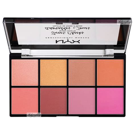 Nyx Make Up Palette Eye Shadow Lipstick Blush On Foundation Palet nyx professional makeup sweet cheeks blush palette 8