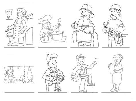 imagenes para colorear oficios im 225 genes de oficios de trabajo para colorear el d 237 a del