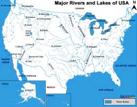 United States Major River Systems Map by World Map Of Rivers