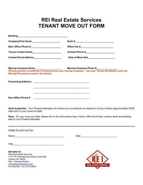 tenant check out form template best photos of commercial tenant contact sheet tenant