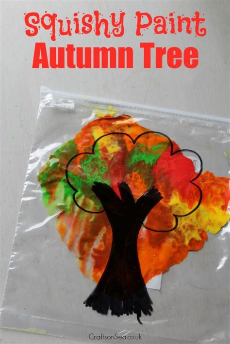 crafts for free mess free autumn tree craft crafts on sea