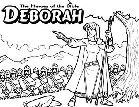 coloring pages for the book of judges deborah the bible heroes coloring page sunday school