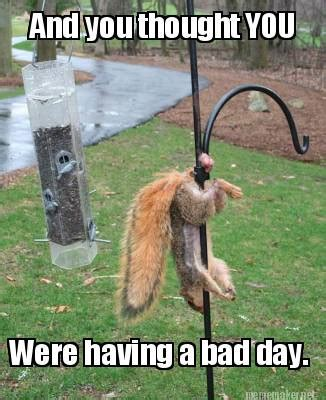 Having A Bad Day Meme - meme maker having a bad day think again
