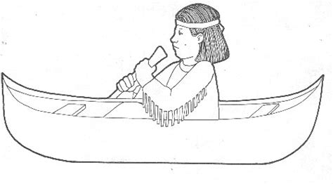 indian canoe coloring page free coloring pages of indian canoe