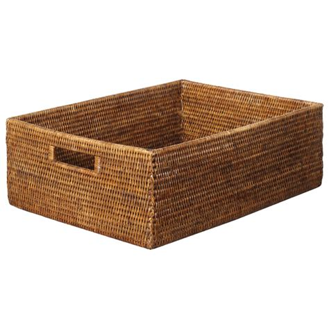 rattan shelf basket oka