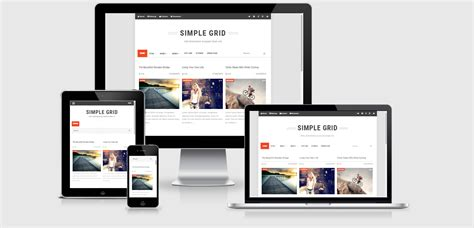 simple grid responsive blogger template free download