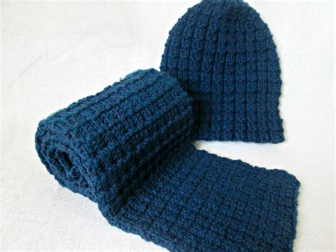 mens hat and scarf knitting pattern easy hat and scarf