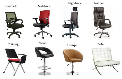 different types of desk chairs office chairs singapore affordable quality safety chairs