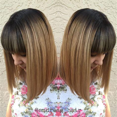 3 layer blunt cut hair photos medium length haircuts for thick hair