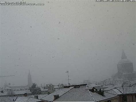 tempo italia pavia lombardia arriva la neve anche a pavia