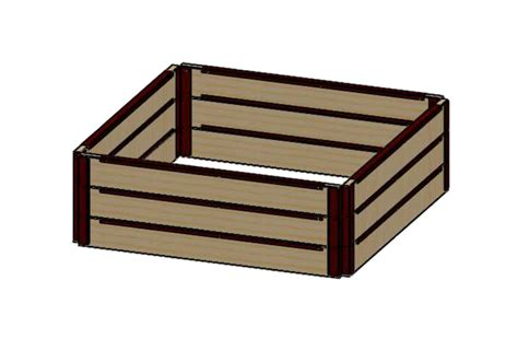raised bed brackets 6 quot tall 4x5 kit with wood raised bed brackets raised