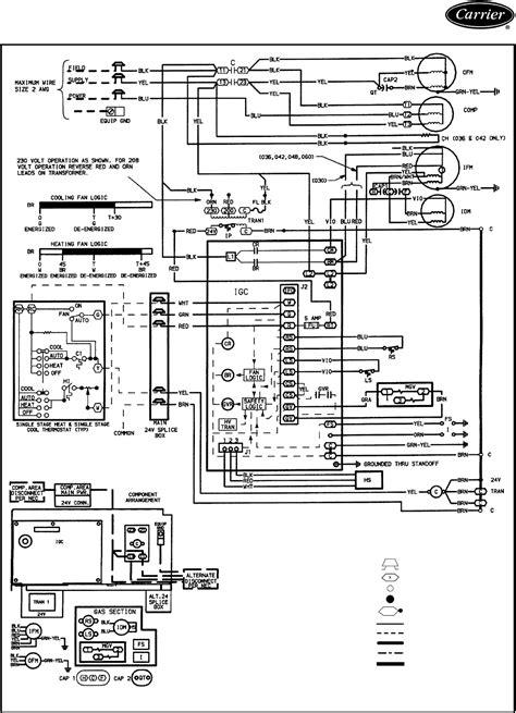 carrier air conditioner wiring diagram  wiring diagram