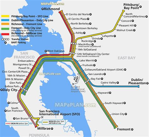 sf bart map san francisco bart map michigan map