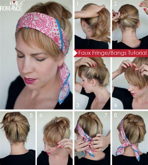 bangs hairstyles tutorial runway to real way hair trend the faux fringe hair