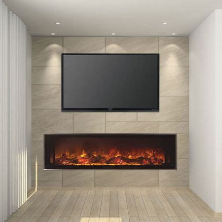 electric fireplace and mantel uk modern flames 60 quot landscape linear electric