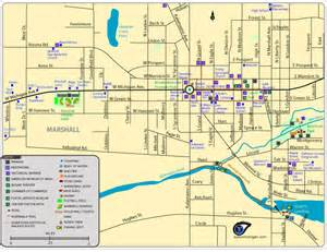 map of marshall area parks trails historic locations more