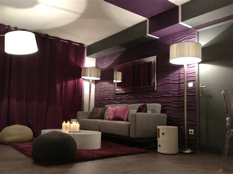 Meuble Pour Four 1202 by D 233 Co Salon Violet Gris Deco Salons Salon