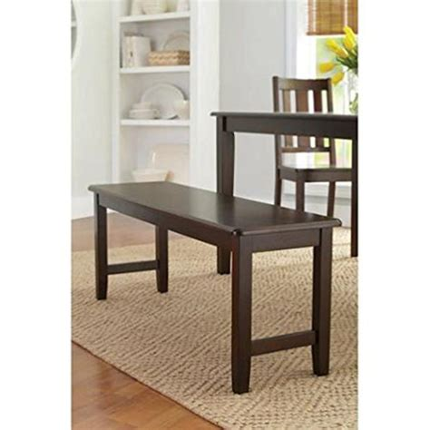 better homes and gardens bench seat better homes and gardens brown two seat dining bench