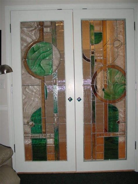 Hand Made Stained Glass French Door Design And Fabrication Custom Made Glass Doors