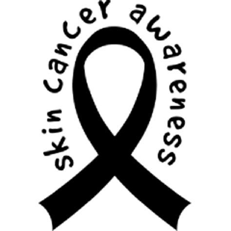 skin cancer color ribbon melanoma