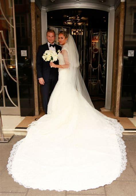TOWIE star Georgina Dorsett marries footballer Tom Cleverley in star studded wedding with guests