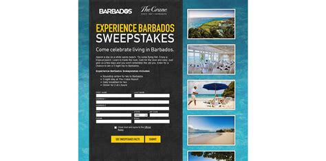 Sweepstakes Unlimited - experience barbados sweepstakes win a 3 night trip to barbados